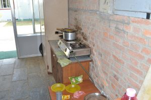 a basic kitchen at a special needs school in Kathmandu